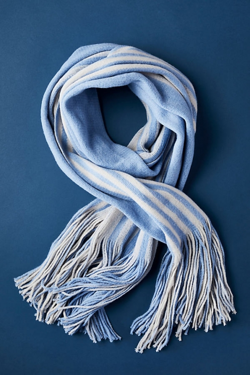 Anthropologie Cosy Striped Blanket - Assorted Scarf