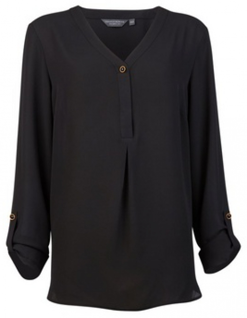 Dorothy Perkins Tall Black Button Blouse