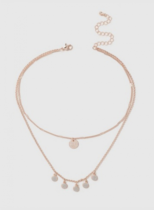 Dorothy Perkins Rose Gold Glitter 2 Row Necklace Chokers