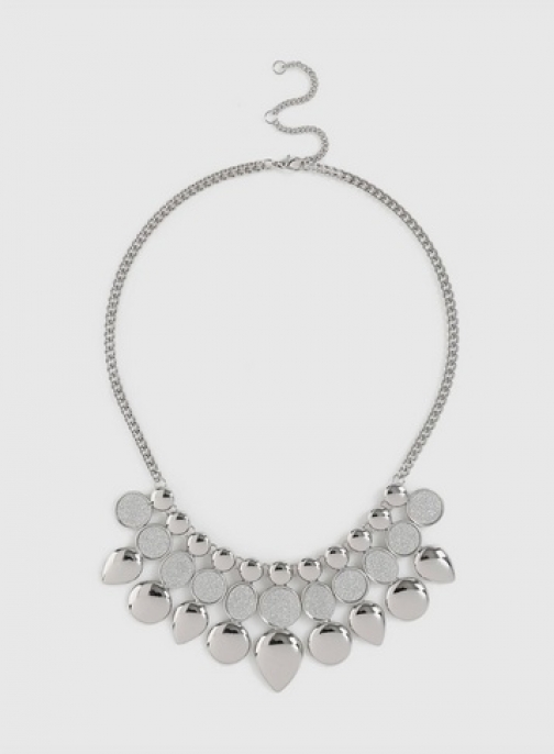 Dorothy Perkins Silver Glitter Inlay Necklace