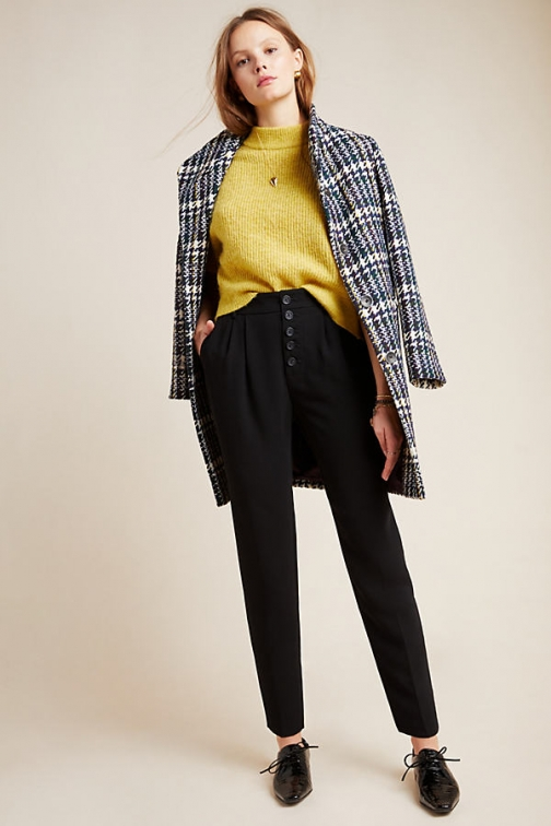 Anthropologie Sasha Button-Fly Tapered Trouser
