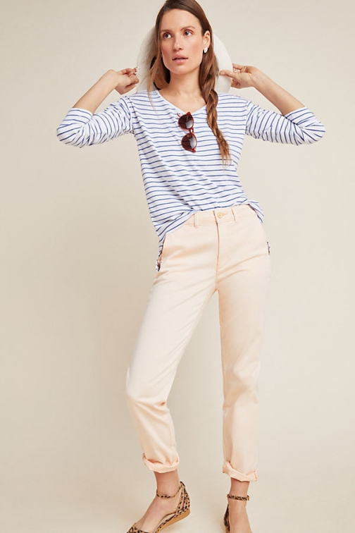 Chino By Anthropologie Relaxed Trousers Chino
