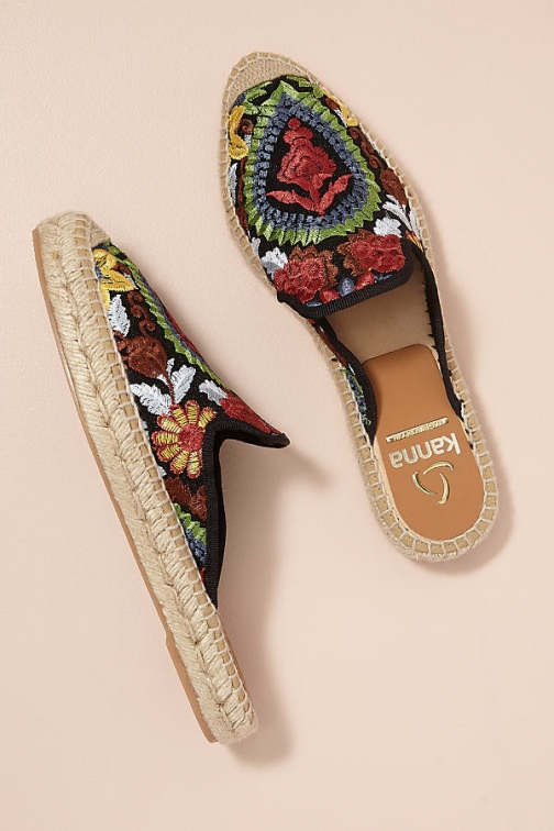 Kanna Embroidered-Raffia Slip-on Espadrille