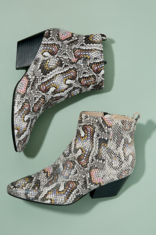Shoe The Bear Cleo Snake-Effect Ankle Boot