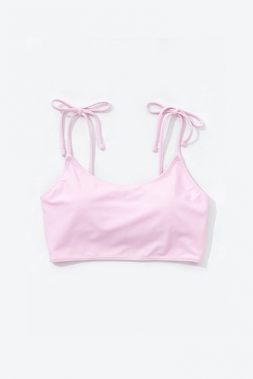 Forever21 Forever 21 Tie-Strap Top , Pink Bikini