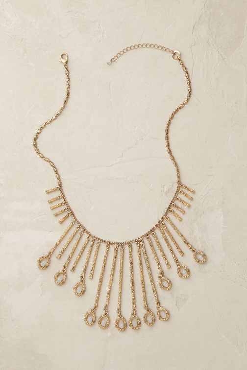 Anthropologie Seren Fringe Necklace