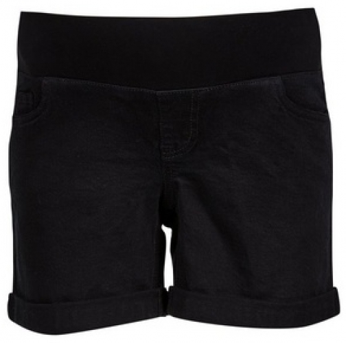 Dorothy Perkins Maternity Black Underbump Denim Short