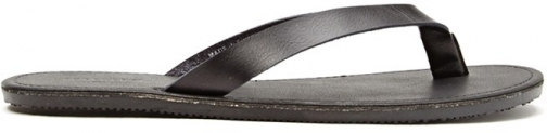 21 Men Mens Faux Leather At Forever 21 , Black Flip Flop