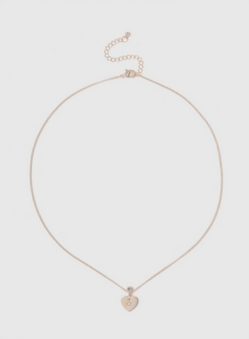 Dorothy Perkins Rose Gold Tiny Heart Necklace