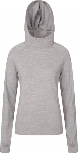 Mountain Warehouse Bend And Stretch Womens - Grey Hoodie