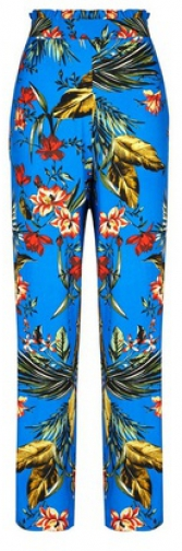Dorothy Perkins Cobalt Tropical Print Palazzo Trousers Trouser
