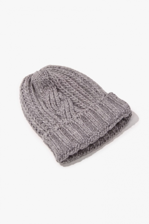 Forever21 Forever 21 Cable Knit , Heather Grey Beanie