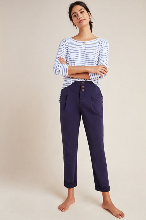Anthropologie Layover Tapered Trouser