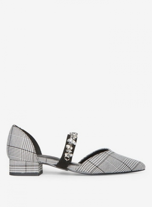 Dorothy Perkins Womens Plaid Microfibre 'Hazel' - Dark Mix, Dark Mix Flat Shoes