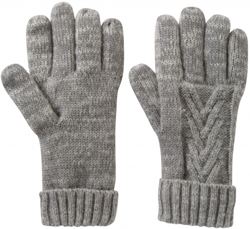 Mountain Warehouse Thinsulate Cable Knit Womens - Grey Glove