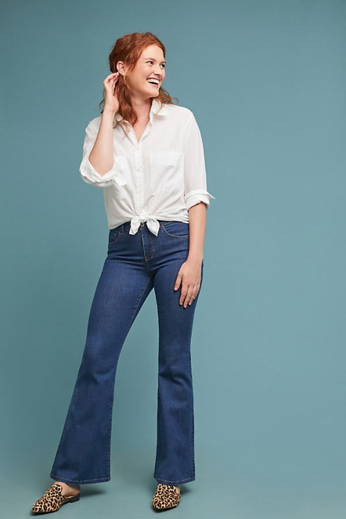 Pilcro And The Letterpress Pilcro High-Rise Flare Jeans