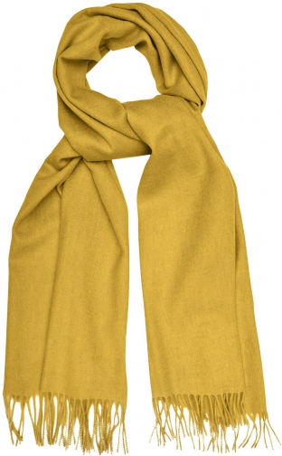 Reiss Saskia - Lambswool Cashmere Blend Yellow, Womens Scarf