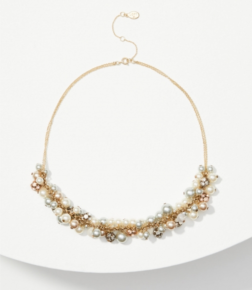 Loft Pearlized Bauble Necklace