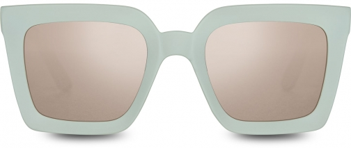 Toms Traveler By TOMS Zuma Matte Aqua Glass With Pink Mirror Lens Sunglasses