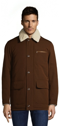 Lands' End Men's Sherpa Lined Barn Coat - Lands' End - Tan - S Jacket
