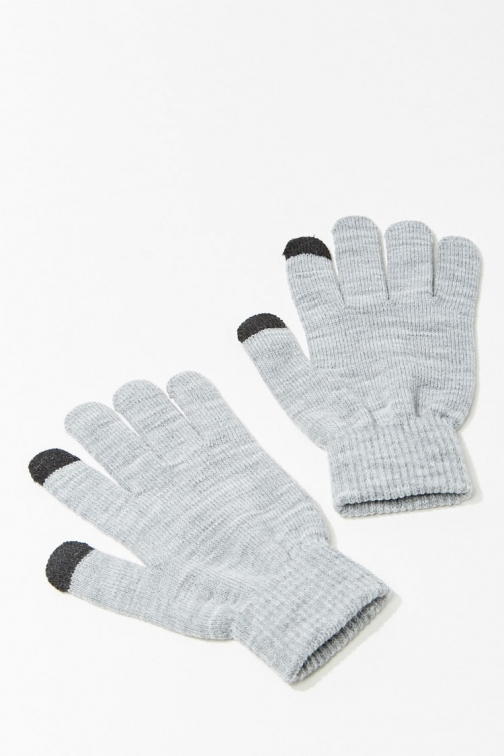 Forever21 Forever 21 Marled Knit Tech , Heather Grey Glove
