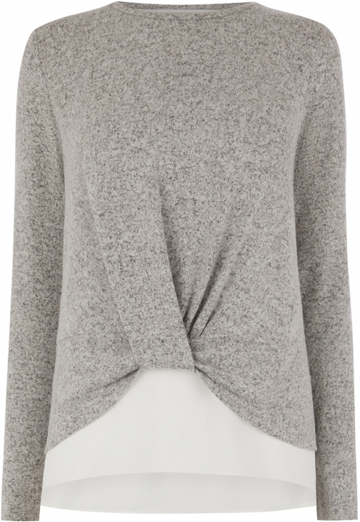 Oasis KNOT FRONT WOVEN Jumper