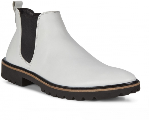 Ecco Incise Tailored Womens Size 6 Bright White Ankle Boot