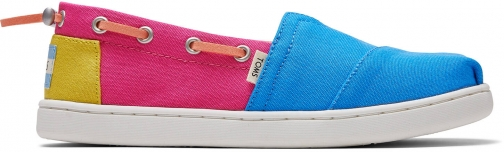 Toms Pink Blocked Canvas Youth Bimini Shoes Espadrille