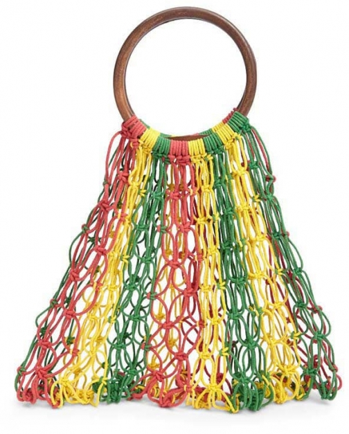 Forever21 Forever 21 Colorblock Open-Knit , Yellow/multi Satchel