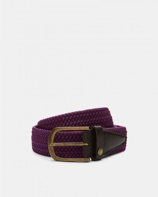 Ted Baker Woven Leather Trim Belt