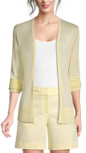 Ann Taylor Factory Petite Sheer Open Cardigan