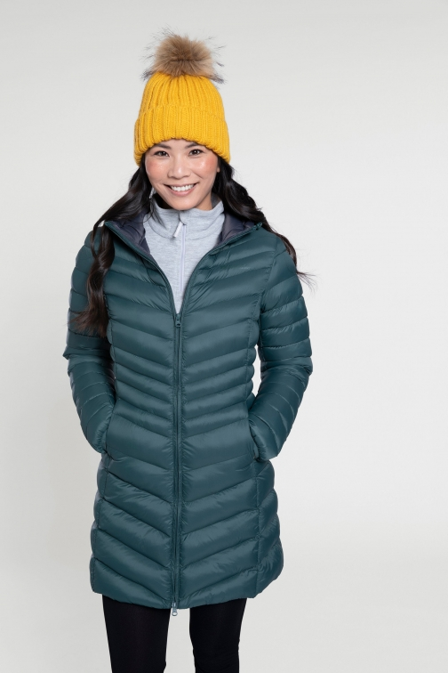Mountain Warehouse Florence Womens Long Padded - Green Jacket