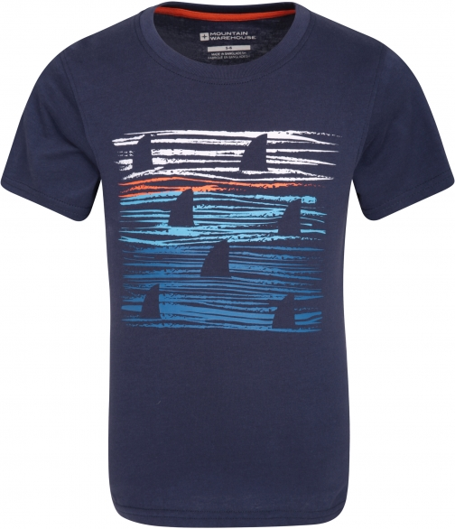Mountain Warehouse Sunset Stripe Kids Tee - Blue T-Shirt