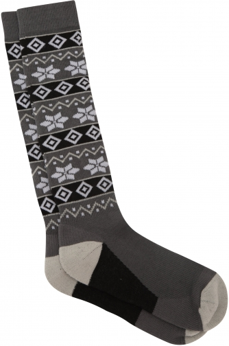 Mountain Warehouse Womens Patterned Ski - Grey Sock