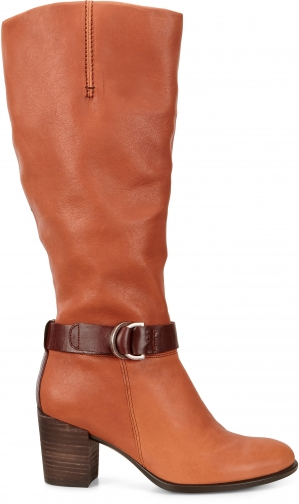 Ecco Shape 55 Tall Size 4-4.5 Cognac Boot