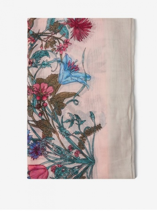 Dorothy Perkins Pink Floral Boarder Scarf