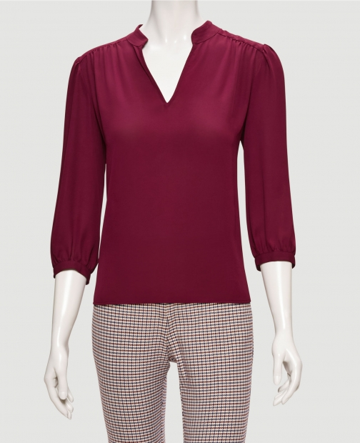 Ann Taylor Factory Collared Split Neck Blouse