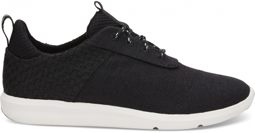Toms Black Basketweave Heritage Canvas Women's Cabrillo Sneakers Shoes