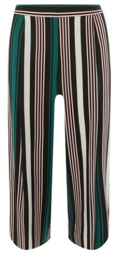 Dorothy Perkins Womens Petite Green Striped - Green, Green Cropped Trouser