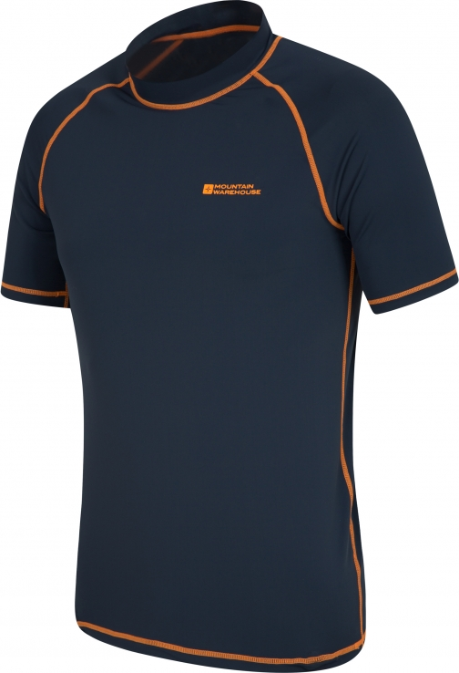 Mountain Warehouse Mens UV Rash Vest - Orange Top