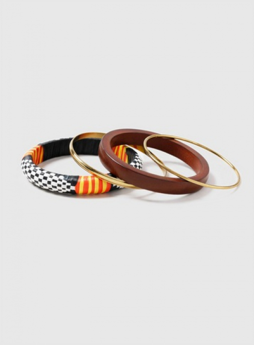 Dorothy Perkins Multi Coloured Geometric Pattern Bangle Pack Bracelet
