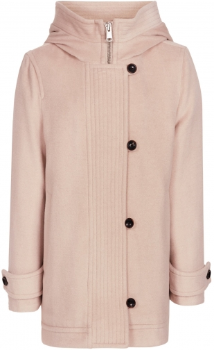 Reiss Marlowe - Blush Pink, Womens, Size 10 Hooded Coat