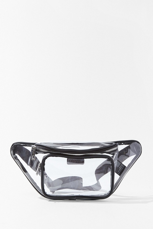 Forever21 Forever 21 Translucent , Clear Fanny Pack