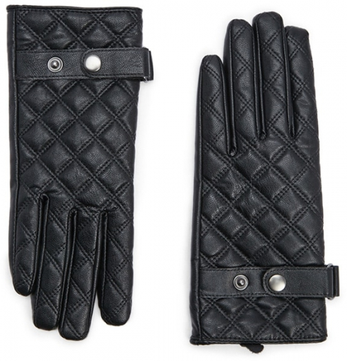 Forever21 Forever 21 Quilted Faux Leather Black Glove