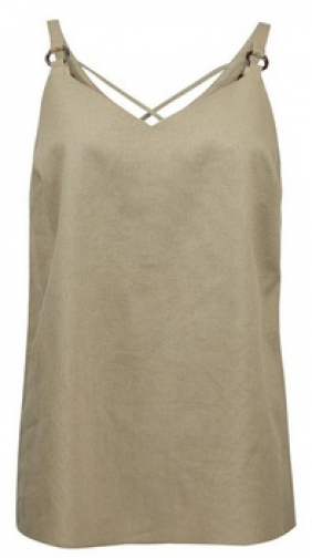 Dorothy Perkins Khaki Strap Camisole Top With Linen Ring