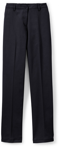 Lands' End Women's Straight Fit Plain 7 Day Pants - Lands' End - Blue - 2 Chino