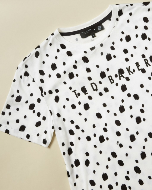 Ted Baker Swarovski® Polka Dot Cotton T-Shirt