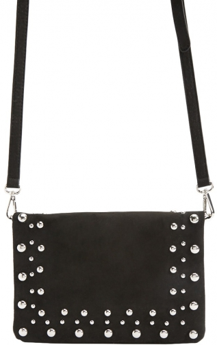 Forever21 Forever 21 Faux Suede Beaded Crossbody , Black Crossbody Bag