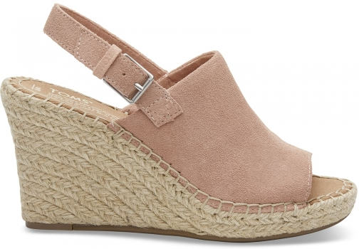 Toms Bloom Suede Women's Monica - Size UK7.5 / US9.5 Wedge
