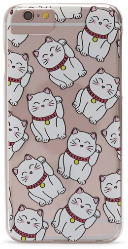 Forever21 Forever 21 Cat Graphic For IPhone 6/6s/7 White/pink Case